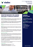 Rapid Disaster Recovery following an explosion