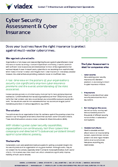 Cyber Security Assessment and Cyber Insurance